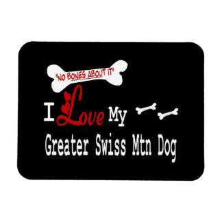 Amo mi mayor perro suizo de la montaña imán de vinilo