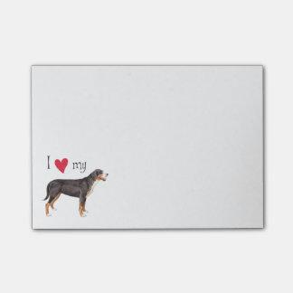 Amo mi mayor perro suizo de la montaña nota post-it®