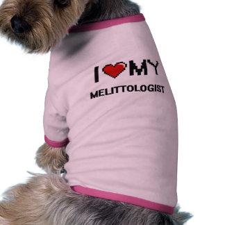 Amo mi Melittologist Camiseta De Mascota