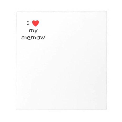 Amo mi memaw blocs de papel