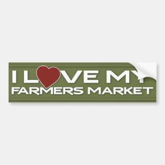Amo mi mercado de los granjeros pegatina para auto