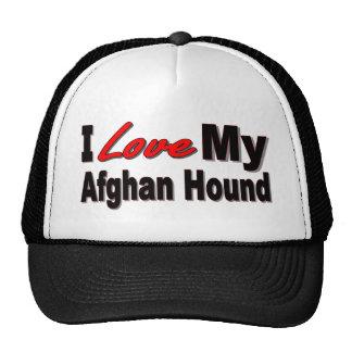 Amo mi mercancía afgana de la raza del perro gorras de camionero