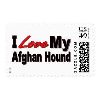 Amo mi mercancía afgana de la raza del perro sellos