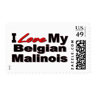 Amo mi mercancía belga de Malinois Sellos