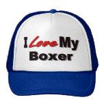 Amo mi mercancía del amante del perro del boxeador gorro de camionero