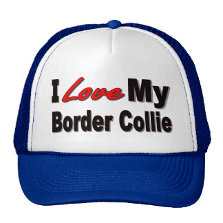 Amo mi mercancía del border collie gorro de camionero