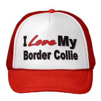 Amo mi mercancía del border collie gorros