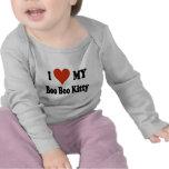 Amo mi mercancía del gatito de la metida de pata camisetas