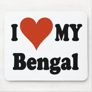 Amo mi mercancía del gato de Bengala Mousepads