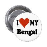 Amo mi mercancía del gato de Bengala Pins