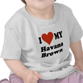 Amo mi mercancía del gato de La Habana Brown Camiseta