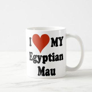 Amo mi mercancía del gato de Mau del egipcio Taza