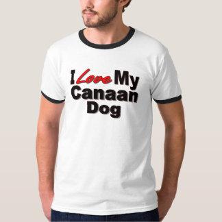 Amo mi mercancía del perro de Canaan Polera