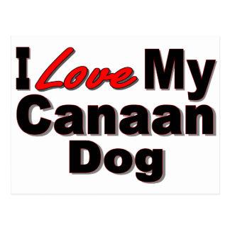 Amo mi mercancía del perro de Canaan Postal