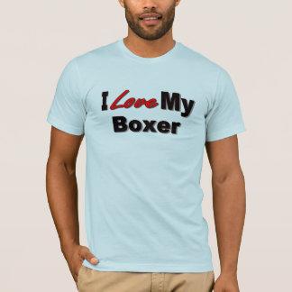 Amo mi mercancía del perro del boxeador playera