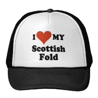 Amo mi mercancía escocesa del gato del doblez gorra