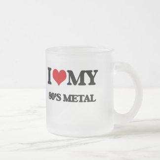 Amo mi METAL de los años 80 Taza Cristal Mate