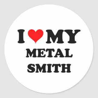 Amo mi metal Smith Etiqueta Redonda