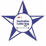 Amo mi mezcla australiana del perro del ganado (el esculturas fotográficas