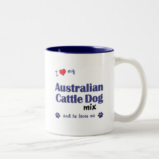 Amo mi mezcla australiana del perro del ganado el taza