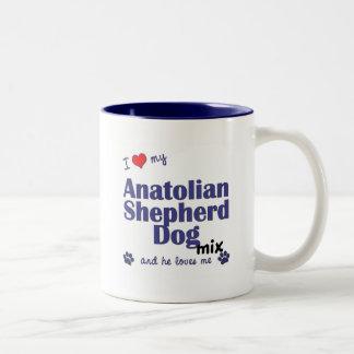 Amo mi mezcla de Anatolia del perro de pastor (el  Taza De Café