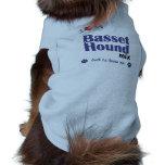 Amo mi mezcla de Basset Hound (el perro masculino) Camisas De Mascota