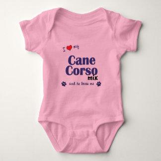 Amo mi mezcla de Corso del bastón (el perro T Shirts