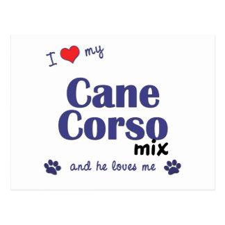 Amo mi mezcla de Corso del bastón (el perro Postales