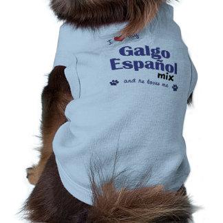 Amo mi mezcla de Galgo Espanol (el perro masculino Prenda Mascota