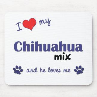 Amo mi mezcla de la chihuahua el perro masculino tapete de raton