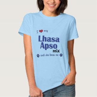 Amo mi mezcla de Lasa Apso (el perro femenino) Poleras