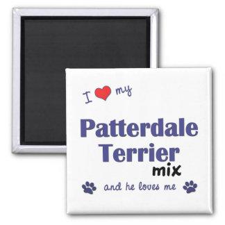 Amo mi mezcla de Patterdale Terrier (el perro masc Imán De Frigorifico