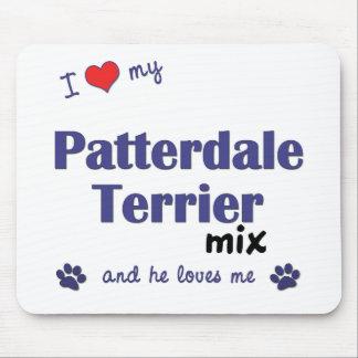 Amo mi mezcla de Patterdale Terrier (el perro masc Alfombrillas De Ratones