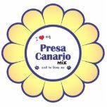 Amo mi mezcla de Presa Canario (el perro masculino Esculturas Fotográficas