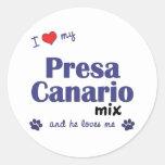 Amo mi mezcla de Presa Canario (el perro masculino Etiquetas