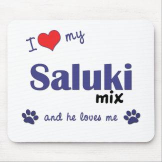 Amo mi mezcla de Saluki (el perro masculino) Alfombrillas De Ratones