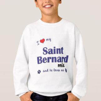 Amo mi mezcla de St Bernard (el perro masculino) Sudadera
