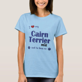 Amo mi mezcla de Terrier de mojón (el perro Playera