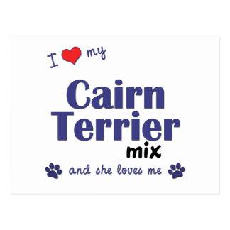 Amo mi mezcla de Terrier de mojón (el perro Postales