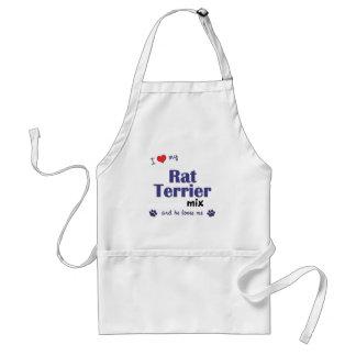 Amo mi mezcla de Terrier de rata (el perro masculi Delantal