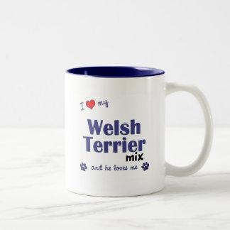 Amo mi mezcla de Terrier galés (el perro masculino Taza De Café