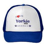 Amo mi mezcla de Yorkie (el perro femenino) Gorros Bordados