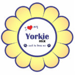 Amo mi mezcla de Yorkie (el perro masculino) Esculturas Fotograficas