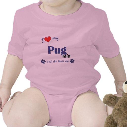 Amo mi mezcla del barro amasado (el perro femenino trajes de bebé
