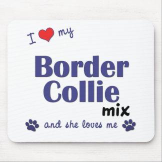 Amo mi mezcla del border collie (el perro femenino tapetes de ratones