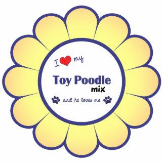 Amo mi mezcla del caniche de juguete (el perro mas adorno fotoescultura