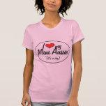 Amo mi mini Aussie (es un perro) Camisetas
