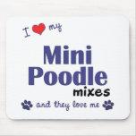 Amo mi mini caniche me mezclo (los perros múltiple tapetes de ratón