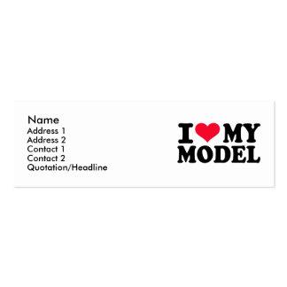 Amo mi modelo tarjeta de visita