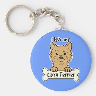 Amo mi mojón Terrier Llavero Redondo Tipo Pin